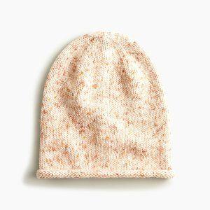 J Crew Marled Knit Slouchy Beanie Hat New